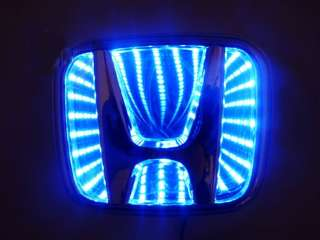 new Blue 3D LED Car Decal Logo Light Badge Lamp Emblem Sticker for
