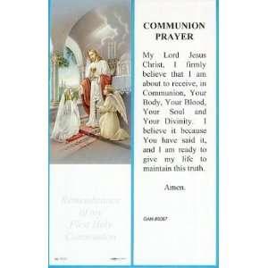 Communion Prayer Bookmark  Girl