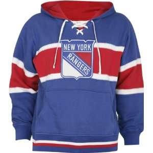 New York Rangers Blue Slap Shot Hooded Sweatshirt Sports