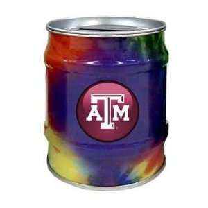 Texas A&M Aggies TAMU NCAA Tie Dye Tin Bank: Sports