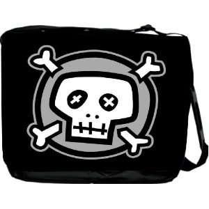 Rikki KnightTM Cartoon Skull and Bones Messenger Bag   Book