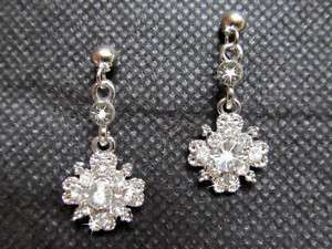 NEW Bridal/Prom Crystal Dangle Rhinestone Earrings