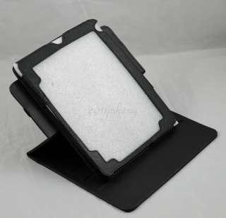 "Rotating leather case+Stylus for VIZIO 8"" /VTAB1008 Tablet PC Black"