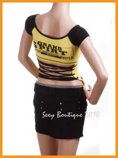 New Korea Sexy Letters Backless Womens T shirt Top Tops