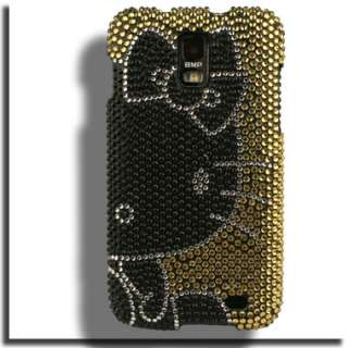 Bling Case for Samsung Galaxy S II Skyrocket Hello Kitty Guard Film