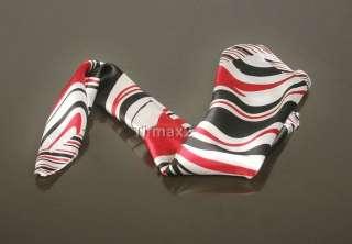 Silk Red Black Scarf Shawl Hair Head Band Bow Gift Wrap Deco
