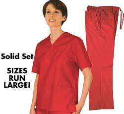 New Natural Uniforms Unisex Scrub Set &