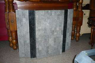 MAITLAND SMITH TESSALATED STONE & BRASS INLAY PEDESTAL