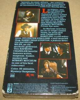 Farewell My Lovely VHS   Robert Mitchum, Rampling 1975