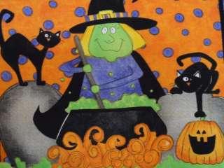 New Halloween Fabric Panel Witch Mummy Bride Frankenstein Holiday