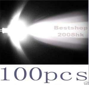 100 pcs 5mm Round white LED Super bright light 20000MCD