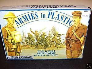 ARMIES IN PLASTIC 1/32 WWI BRITISH ARMY IN STEEL HELMET