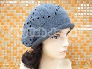 Grey Heavy Jersey Knit Winter Beanie Cap Hat 116