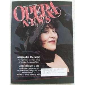 Opera News Magazine. August 1998. Single Issue Magazine