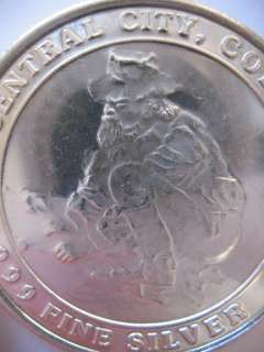 SILVER HISTORIC CENTRAL CITY CO PROSPECTOR BULLION COIN + GOLD