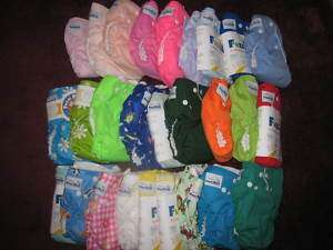 NEW Fuzzi Bunz Cloth Diapers Small Medium Large Xsmal