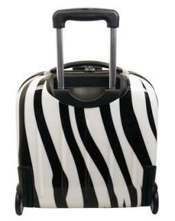 HEYS USA ECASE EXOTIC HARDSIDE ROLLING LAPTOP BUSINESS CASE D257 ZEBRA