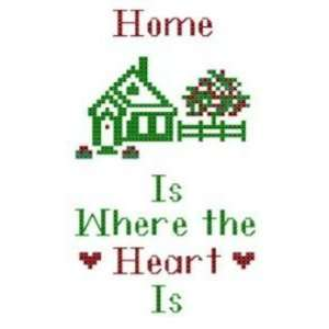 Country Home Cross Stitch Chart Kit   Home Is Where the
