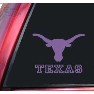 Texas Longhorn UT Vinyl Decal Sticker   Lavender