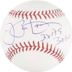 Joe Pepitone Rawlings Autographed Baseball  Details 3xAS