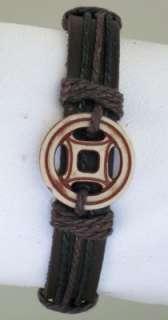 Traditional Tribal Symbol Surfer Leather Bracelet