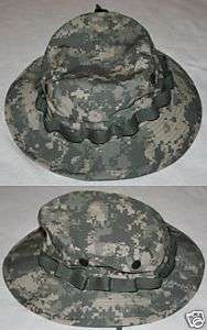 ARMY COMBAT UNIFORM ACU CAMOUFLAGE BOONIE HAT 7 3/4 NEW
