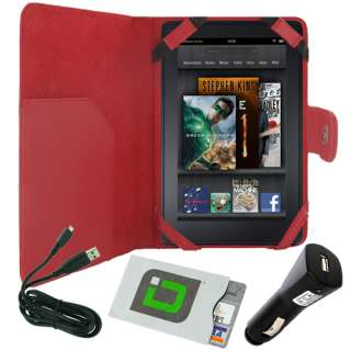 Cover + USB Cable + Car Charger for  Kindle Fire Tablet