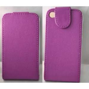 Mobile Palace   Purple leather flip case pouch for Apple