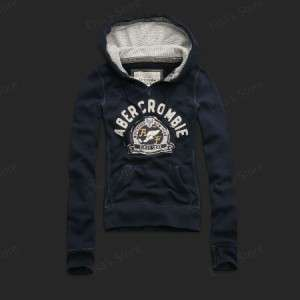 NWT Abercrombie & Fitch A&F Womens Top Hoodie Jacket Sweatshirt
