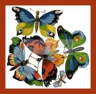 Magnet Butterflies Five Yellow Red Green Blue Orange Butterfly