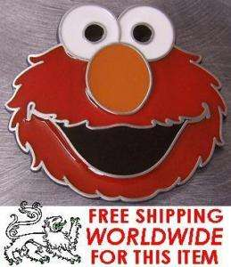 Pewter Belt Buckle Cartoon Sesame Street Elmo NEW