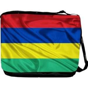 Rikki KnightTM Mauritius Flag Messenger Bag   Book Bag