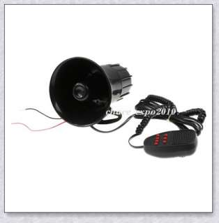 12V Loud Horn for Car Van Truck with 7 Sounds PA System