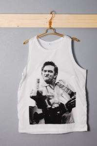New Johnny Cash Finger Flip Rockabilly Tank Singlet S