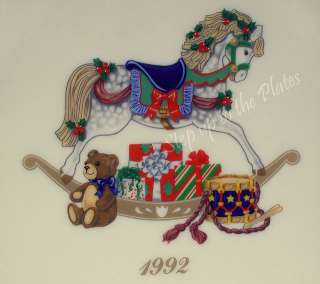 2nd Annual Holiday Christmas Plate 1992 Rocking Hobby Horse MIB