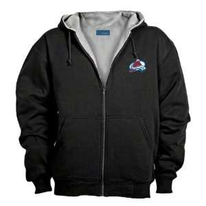 Colorado Avalanche Black Craftsman Full Zip Hoody