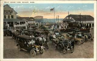 NAHANT MA Relay House Yard OLD CARS PC
