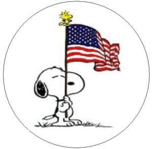 SNOOPY w/USA FLAG~ 1 Sticker / Seal Labels