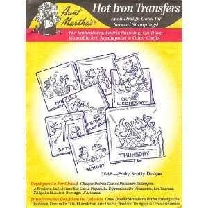 Aunt Marthas Hot Iron Transfers Frisky Scotty Arts, Crafts & Sewing