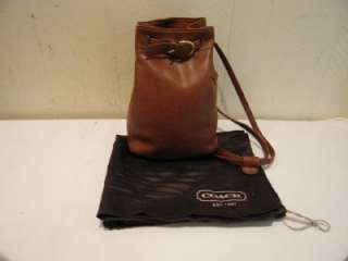 COACH VINTAGE SMALL BRITISH TAN BROWN BELTED BACKPACK DAY PACK SLING