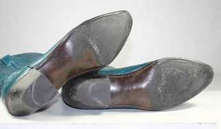 ACME WESTERN/COWBOY BOOTS TEAL LEATHER WOMENS UNDERSLUNG sz 10 M