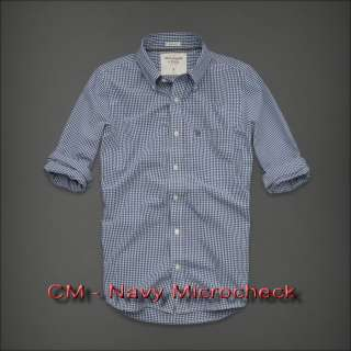 NEW 2012 NWT MENS ABERCROMBIE & FITCH PLAID CASUAL BUTTON SHIRT L