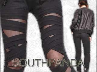 SL152 Fashion Punk Gothic Lace Glam Tight Pants Legging