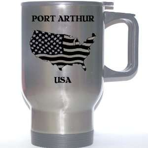 US Flag   Port Arthur, Texas (TX) Stainless Steel Mug