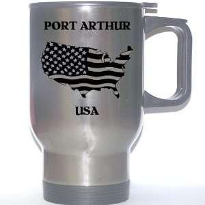 US Flag   Port Arthur, Texas (TX) Stainless Steel Mug