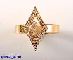 Chopard 18K Yellow Gold & Diamonds Rings