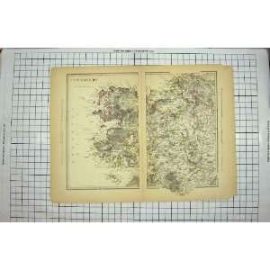 ANTIQUE MAP c1790 c1900 CONNAUGHT IRELAND CLEW BAY Home & Kitchen