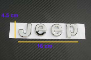 Logo Sticker Decal chrome Wrangler Grand Cherokee CI5 CI7 J