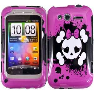 Pink Skull Hard Case Cover for T Mobile Metropcs HTC