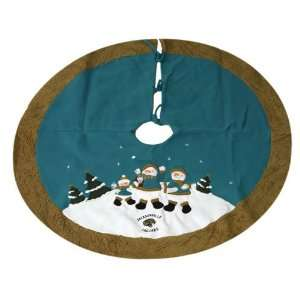Jaguars NFL Snowman Holiday Tree Skirt (48)